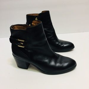 Louise et Cie Black Leather Booties. Size 6.5